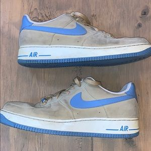 Nike Air Force XXV sneakers baby blue and tan